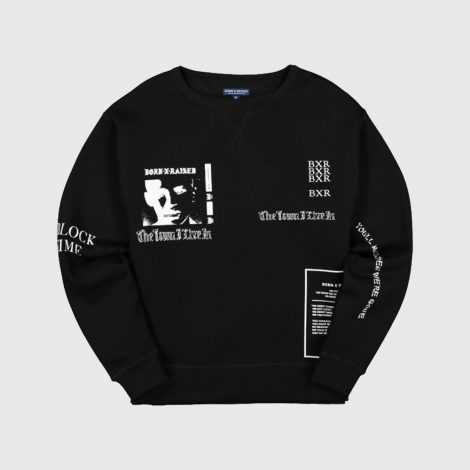 BORN X RAISED B0020VCNK HOODIE BLACK 01