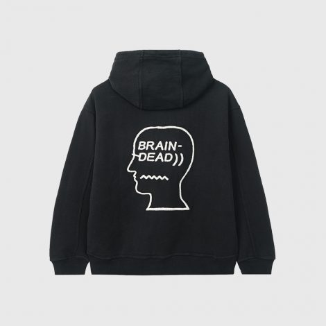 Speed Text Embroidered Logo Hoodie